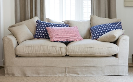 Montauk point linen 2-sits soffa