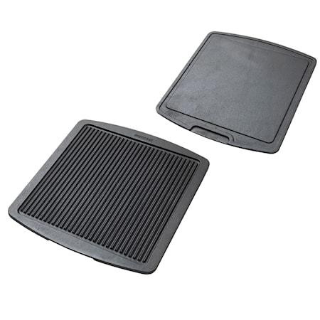 Grill & stekplatta vändbar 35,5 x 32,5 cm