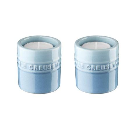 Le Creuset Ljuslyktor, 2-pack, 6 cm - Coastal Blue