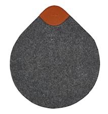 Grytunderlägg Mörkgrå 24x21 cm