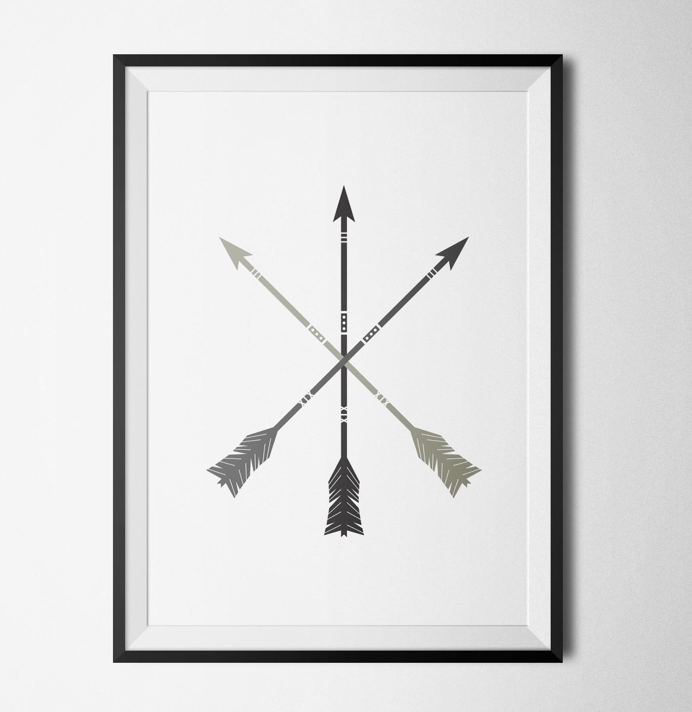 Arrows grey poster