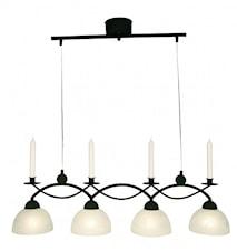 Florense taklampa med 4 kupor.