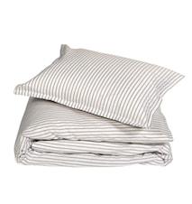 Classic stripe örngott 2-pack – Beige