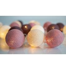 Dusty Pink 20-lights lysslynge