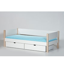 Sif säng – Vit/Bok