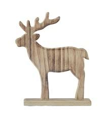 Figur Ren Porslin Trä Natur 21 cm