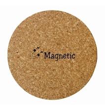 Korkunderlägg med magnetinlägg, runt
