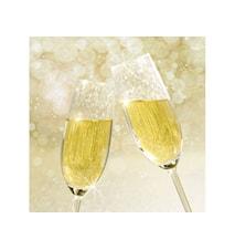 Servett Champagne 33x33 cm 20-pack