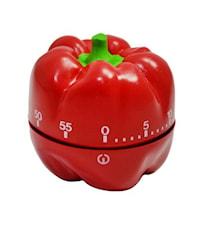 Köksklocka Paprika Röd