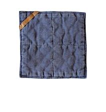 Grytlapp , 25x25 cm, blå