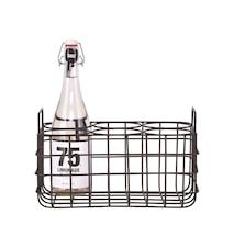Flaskeholder, 6. 31x21x19 cm - Svart