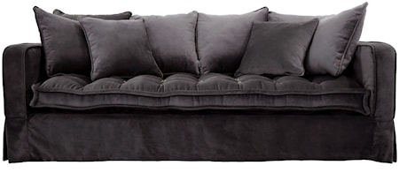 Greenwich 3-sits soffa Sammet Grå