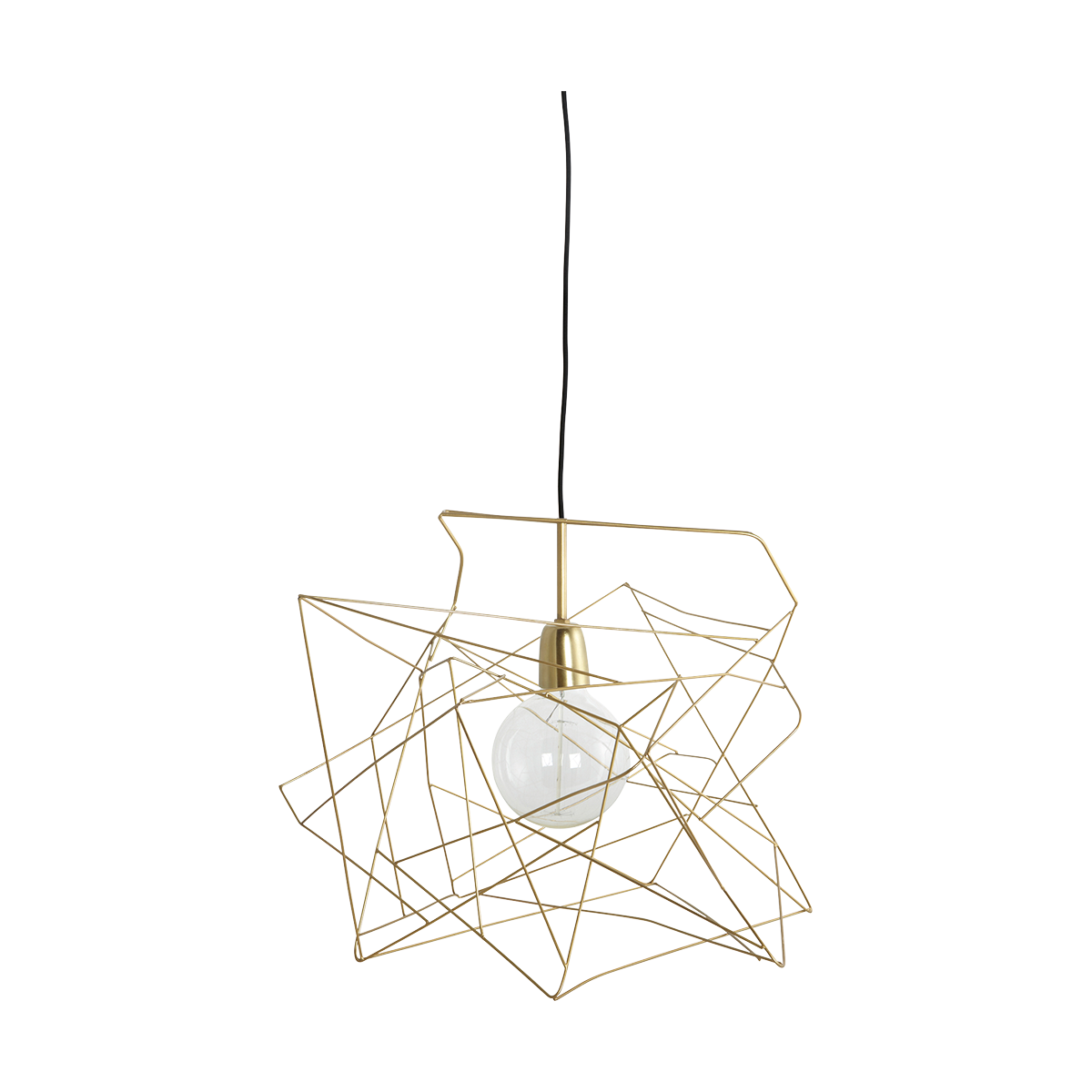 Asymmetric Lampskärm Guld 45x45 cm