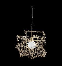 Lampskärm Assymetric 45x45 cm - Guld