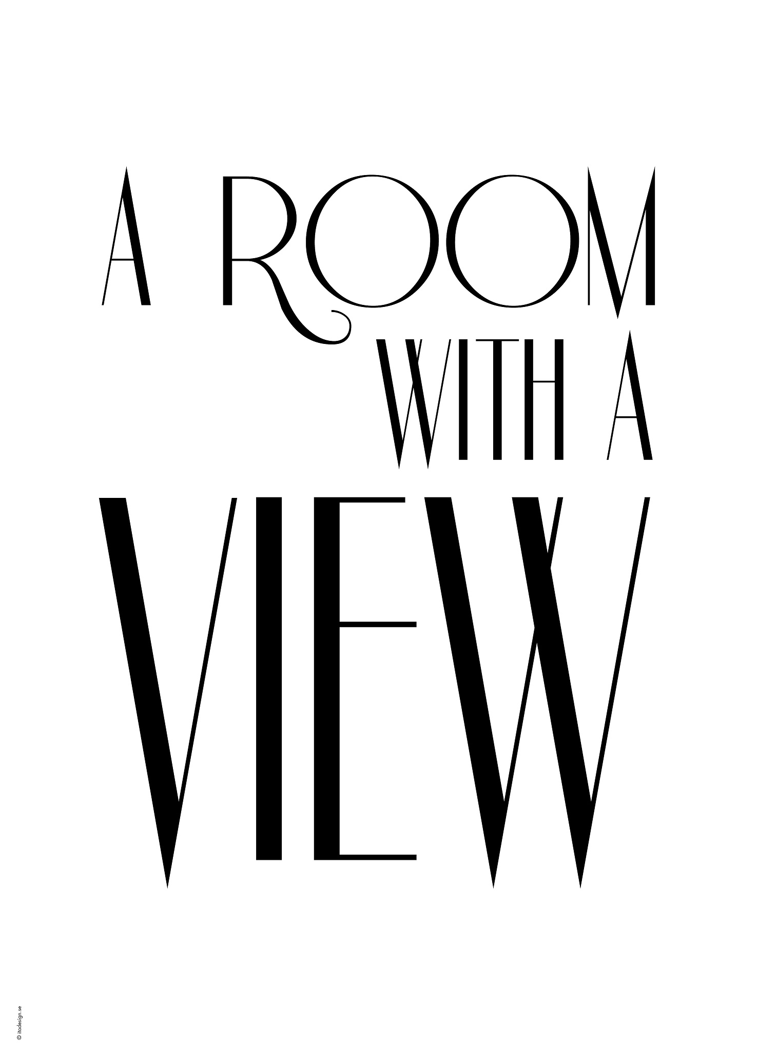 A room with a view poster - White