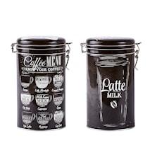 Kaffebruk Metall Svart 19 cm 1,5 L Osorterat