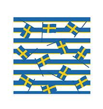 Servetter 33x33 cm Svenska flaggor 20 st