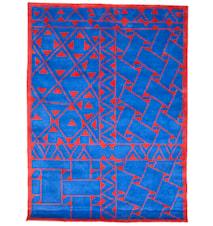 Daaskoe matta – Blå/röd