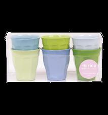 Melaminmuggar Små 6-pack Blå/Grön
