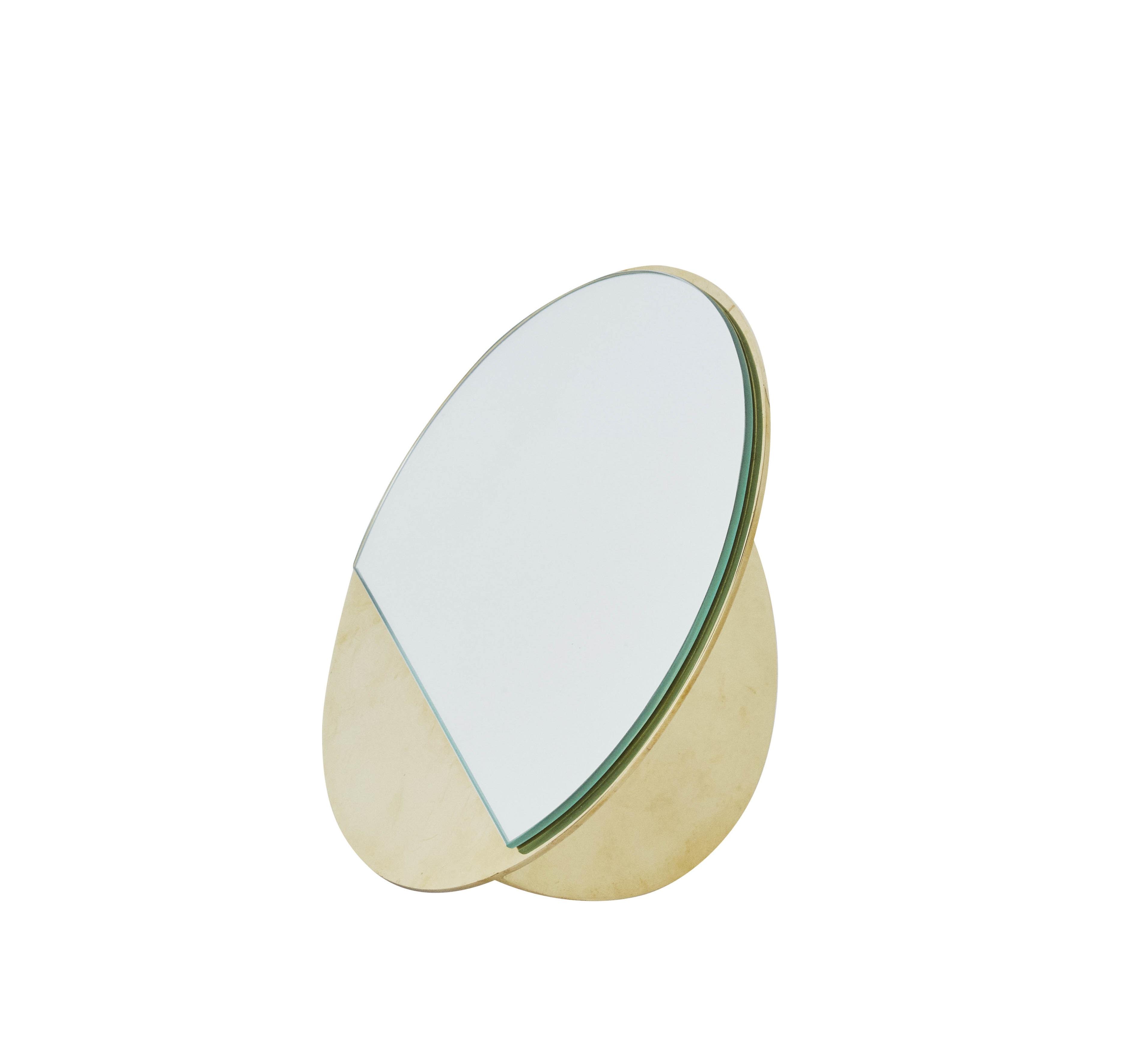 Kristina dam mässing spegel