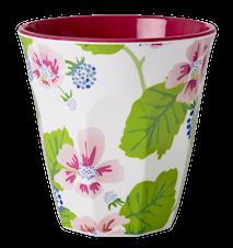 Melaminmugg Tvåtonad Blommor/Bär