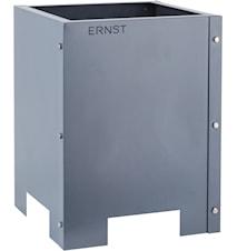 Kruka i plåt ERNST 30x30x40 cm grå