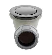 Universal bottenventil pop-up för badkar 22200 Black Chrome