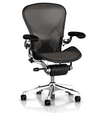 Aeron kontorsstol - Fullt utrustad, Blankpolerad