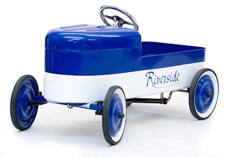 Riverside blue/white trampbil