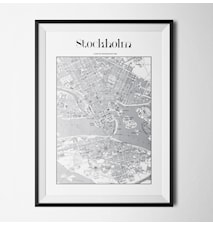 Map stockholm poster - 40x60