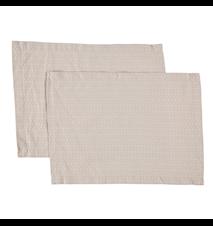 Dækkeserviet Opal 2-pack 45x35 cm - Rosa