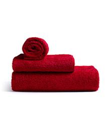 Mafalda Mellemstor badehåndklæde, rød