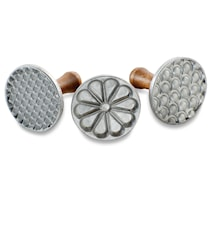 Dekorationsstämplar 3-pack Aluminium/Trä
