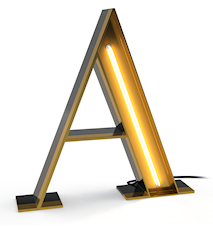 Letters graphic lamp