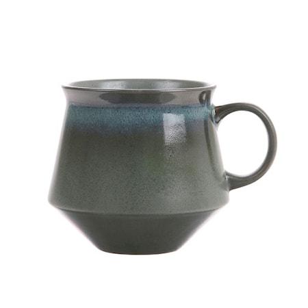 70's Keramik Mugg XL Grön
