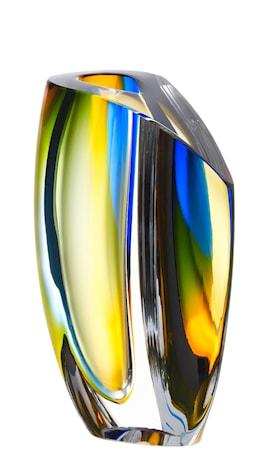 Bild av Kosta Boda Mirage Blå/Bärnsten Vas 21 cm