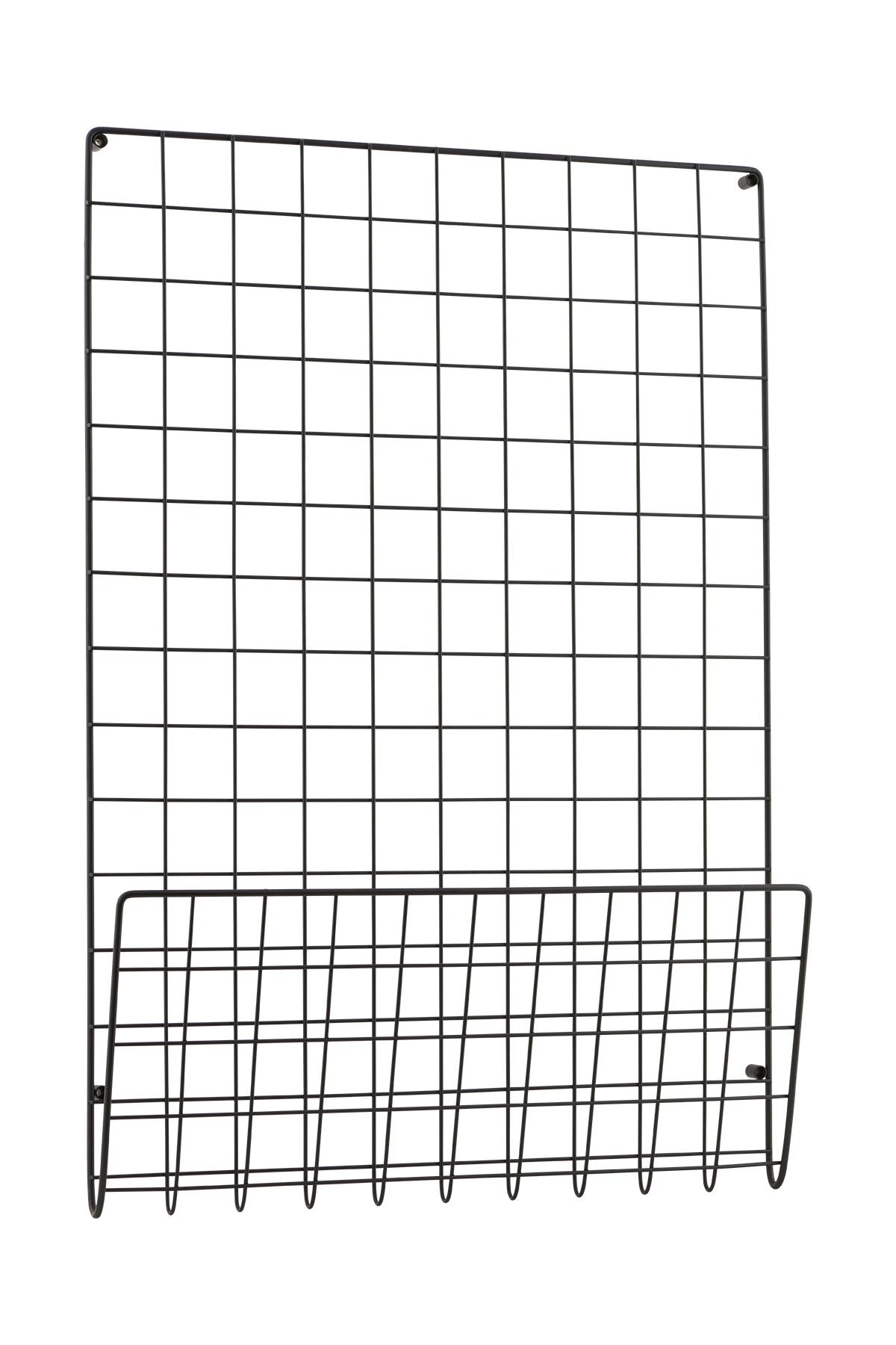 Mesh Anslagstavla Svart 50x72,5 cm