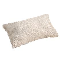 Ace Small Kudde fårskinn/ulltyg 30x50 - Offwhite/White