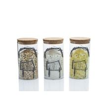 3 dele sæt opbevaringsglas GG