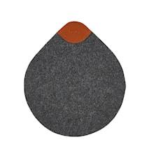 Grytunderlägg Märkgrå 19,6x17 cm
