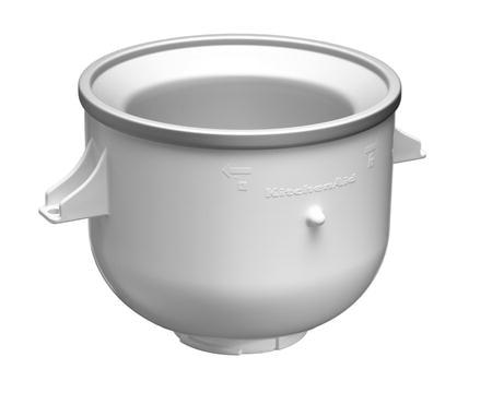 Skål för glasstillverkning till KitchenAid vit 1,9 liter
