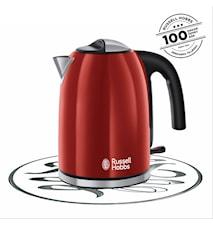 Colours+ Vattenkokare Röd 2400W