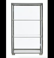 Kabinett 56,6x35x35 cm - Glas/stål