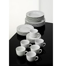 Café Matservis Vitt Porslin 30 delar