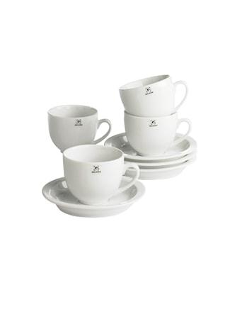 Kjøp Kaffekopp med fat porselen 25 cl 4-pakk hos Confident Living 81d7f41da4883