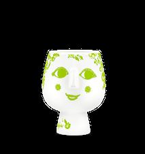 Ytterkruka på fot, Juliane, grön, Ø8 cm