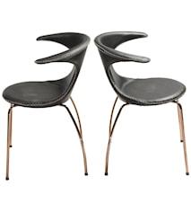 Flair chair - Svart/guld