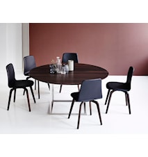 Jewel table Walnut, Stainless Steel Ø150
