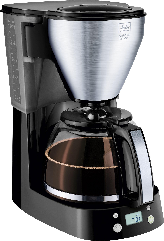 Kaffebryggare med Svängbart Lock Svart