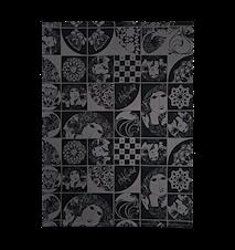Kökshandduk, svart/grå, 50x70 cm